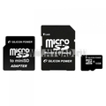 Flash memory card MicroSDHC Silicon Power на 16 Гб (2 адаптера)